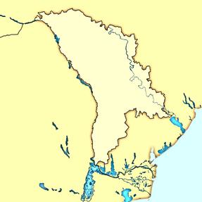 Moldova map modern