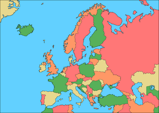 Europe 5 Colours