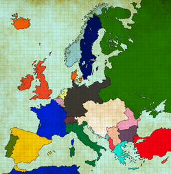Map of Europe 1890