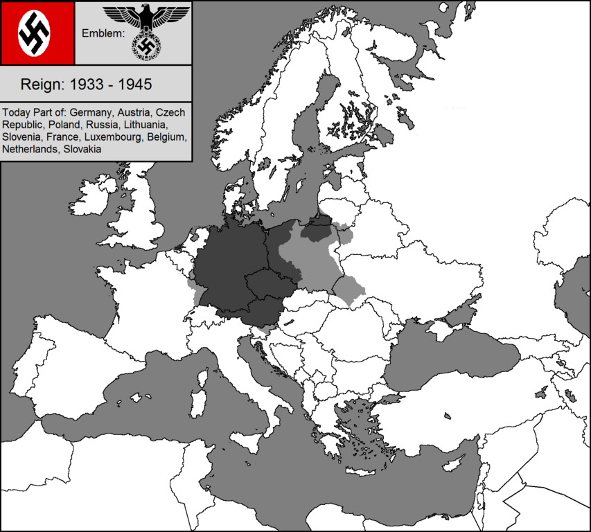 blank map of nazi germanypng