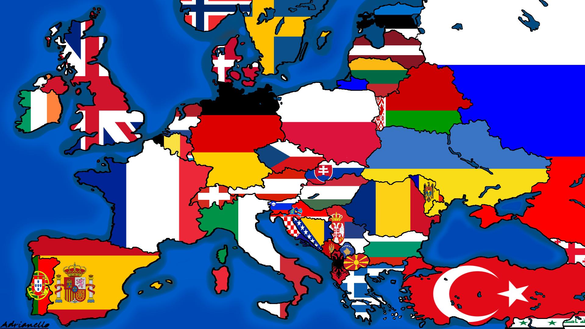 Image europe map flagsg thefutureofeuropes wiki fandom europe map flagsg gumiabroncs Choice Image