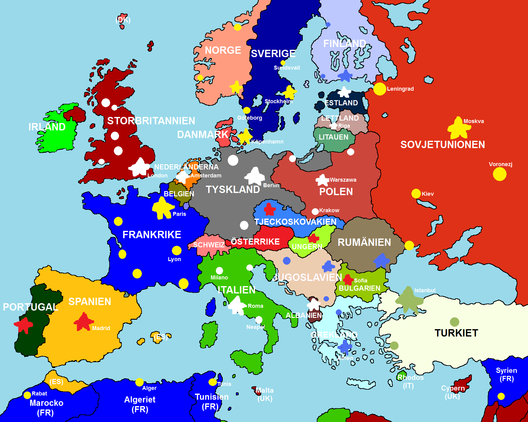 Image Map of Europe 1920 Fullmap Unfinishedpng