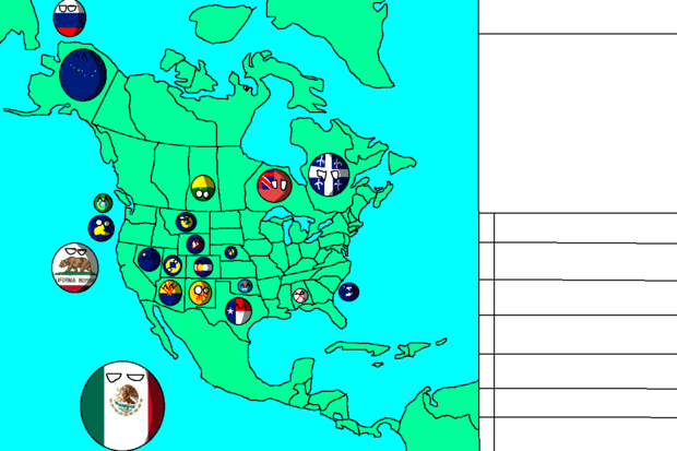 NA Countryball map 2