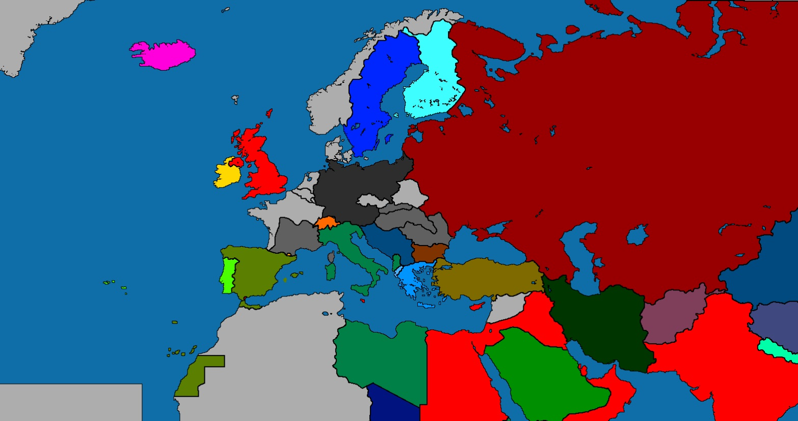 Europe Map In WW2 Period (1941)