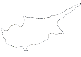 Blank map of cyprus