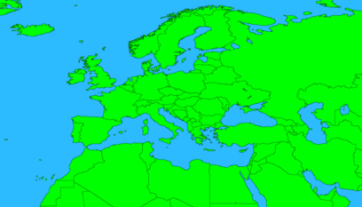 Drex's map of Europe without names