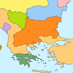 Balkan map Sanstefano Treaty