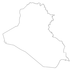 Blank Map of Iraq