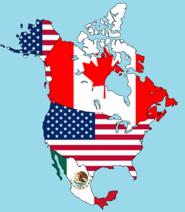 Canada, USA, and Mexico maps