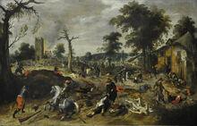 800px-Sebastiaan Vrancx 1573-1647 - De plundering van Wommelgem 1625-1630 - Düsseldorf Museum Kunstpalast 15-08-2012 15-08-12
