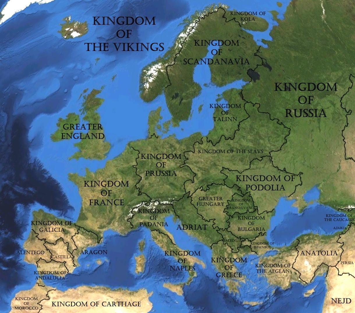 Image Europesatellitemap With Namesjpg TheFutureOfEuropes - World map online satellite 2015