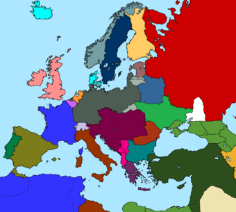 what countries made up the central powers