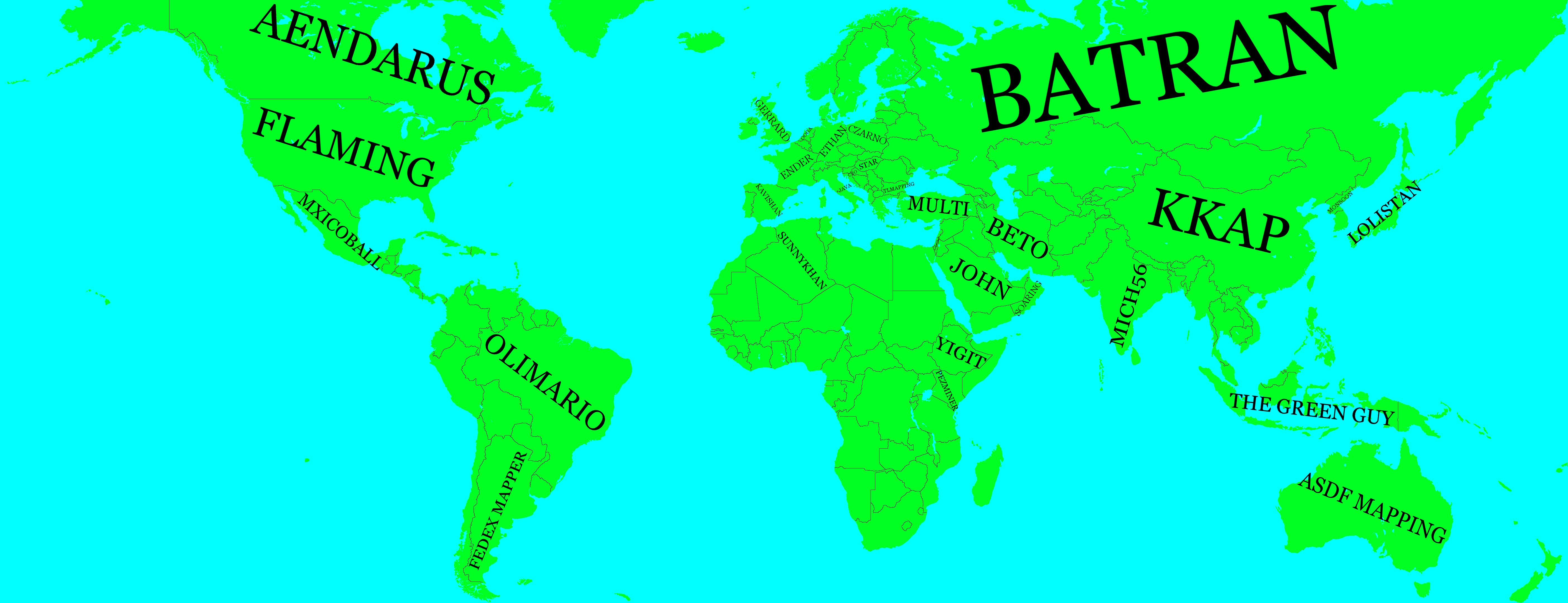 Alternate future scenarios for global domination