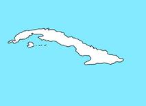 Blank Map of Cuba