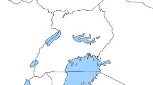 Blank Uganda Map