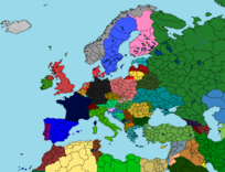 Map of Europe 2017