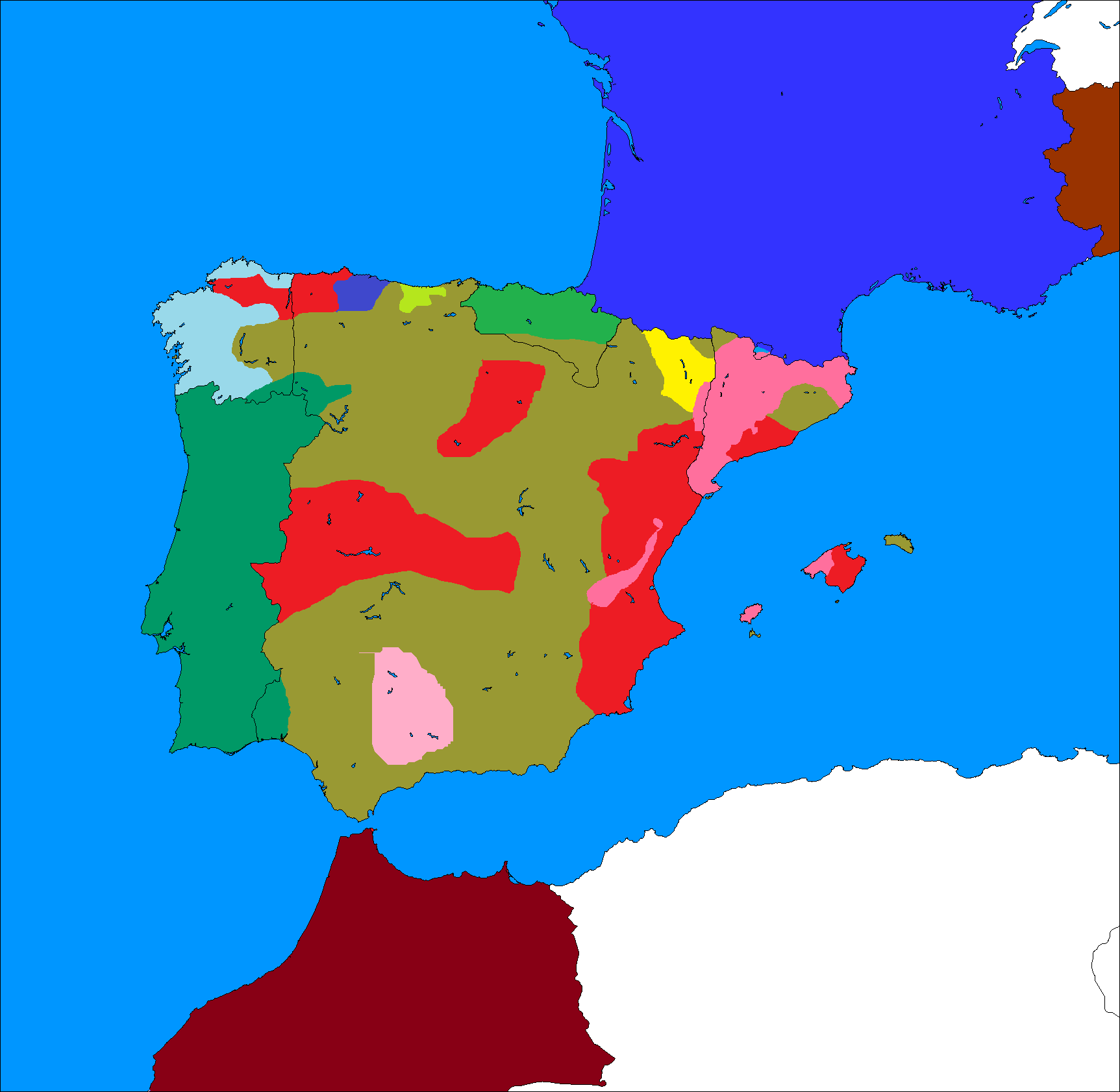 Map Of Spain Morocco.2nd Spanish Civil War Map Game Thefutureofeuropes Wiki Fandom