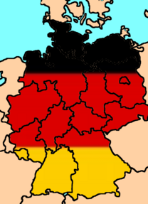Flag map of Germany w/ provinces