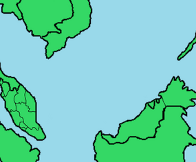 Provincial map of Malaysia