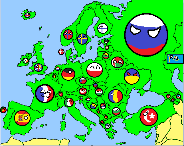 europe map country ballpng