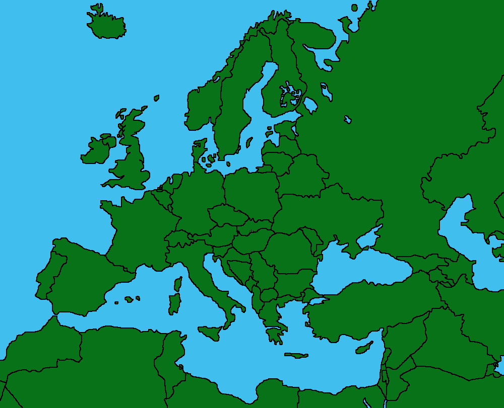 europes mappng