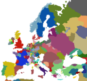 Map of Europe 1444 *Accurate**