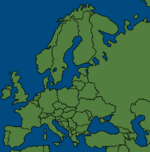 Map of europe with no borders