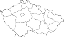 Map of the Czech Republic with Regions
