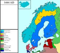 Scandinavia and Baltic Sea Colored Betel