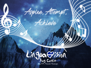 Linguavision Song Contest IX Logo by Mazovian