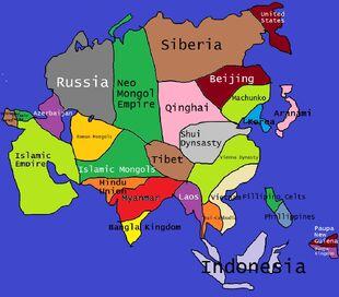 Alternate Asia Map