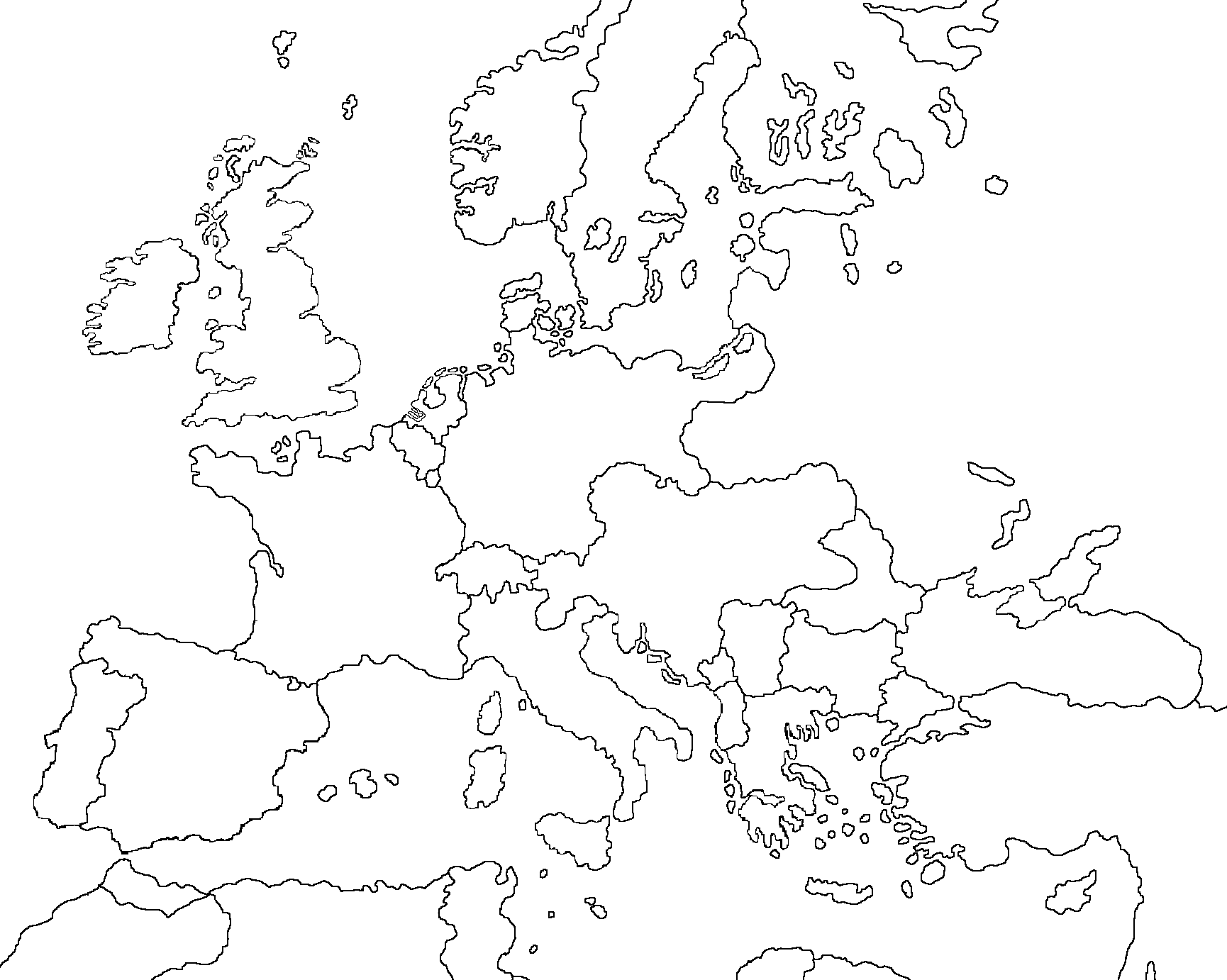 Blank Maps Of Europe Image   Blank map of Europe 1914 by Eric4e.png  Blank Maps Of Europe