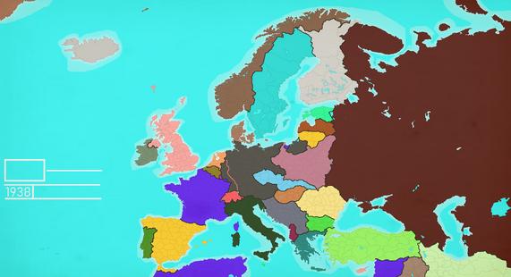 1938 Europe Map