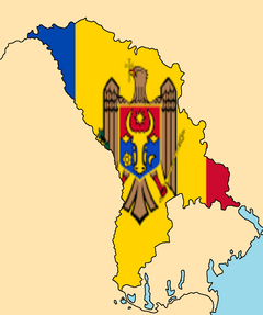 Blank Map of Moldova