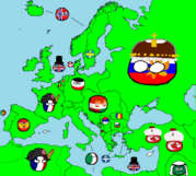 1914 map of europe in countryballs