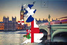 Flag map of the UK