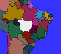 Brazilian States Map by Ceplio