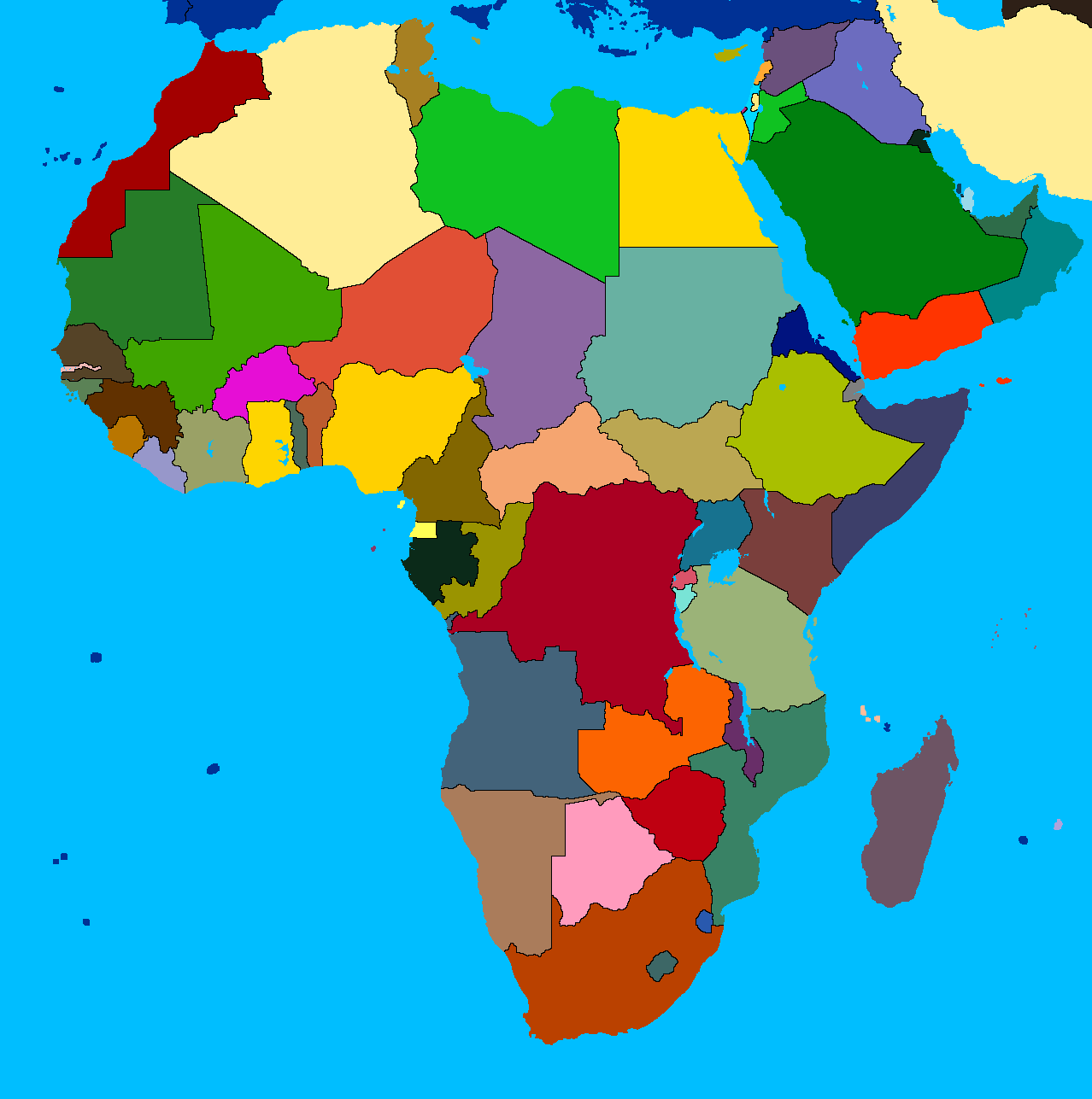 africa map with no names