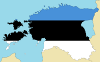 Blank Map of Estonia