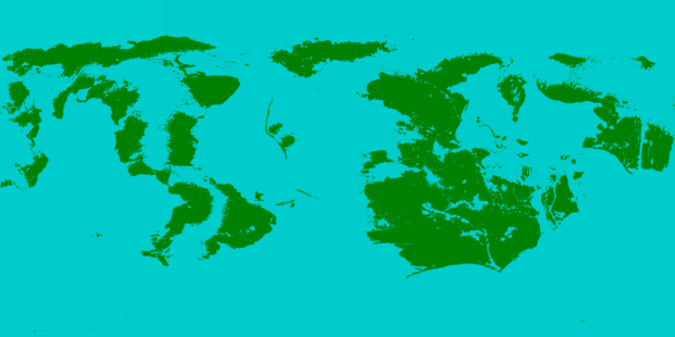 Inverted Earth Map