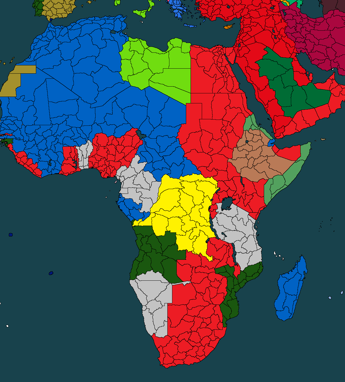 The Scramble for Africa Map Game TheFutureOfEuropes Wiki