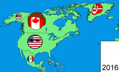 North America in countryballs