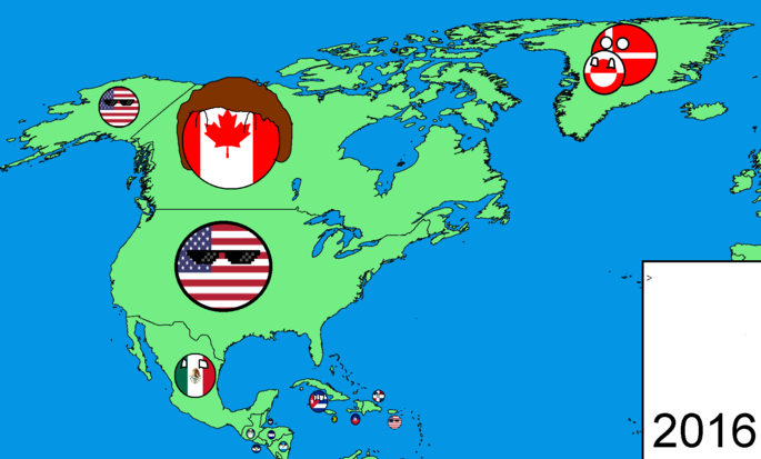North America in countryballs