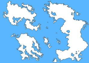 Fictional blank map