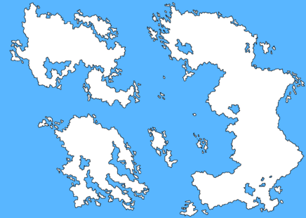 Fictional blank map