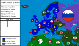 Countryball map of Europe