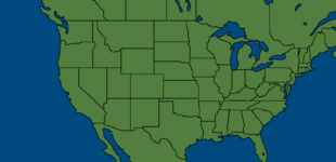 North america with no names