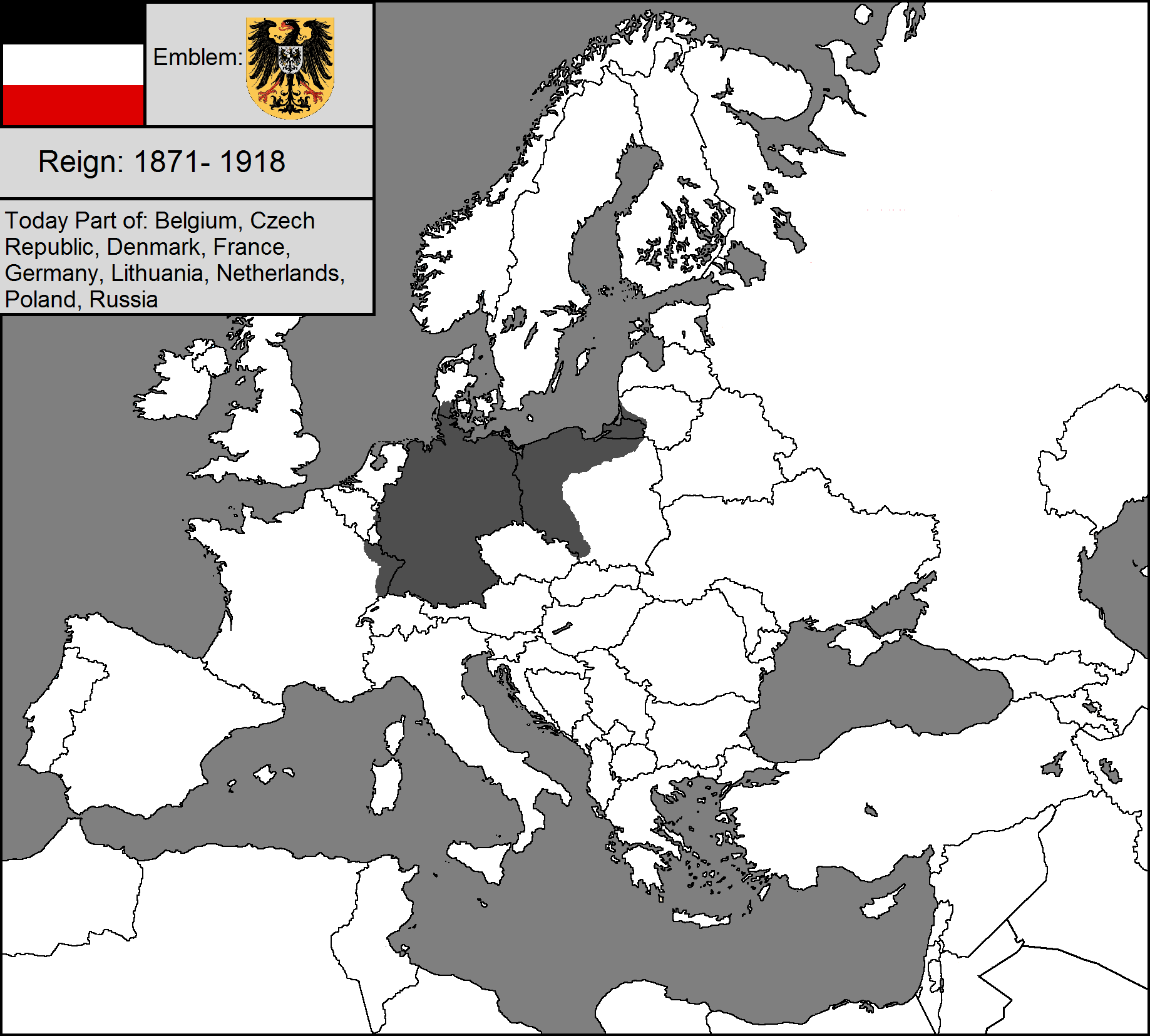 Image Blank map of the German Empirepng TheFutureOfEuropes Wiki