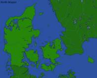 Map of Denmark with Regions