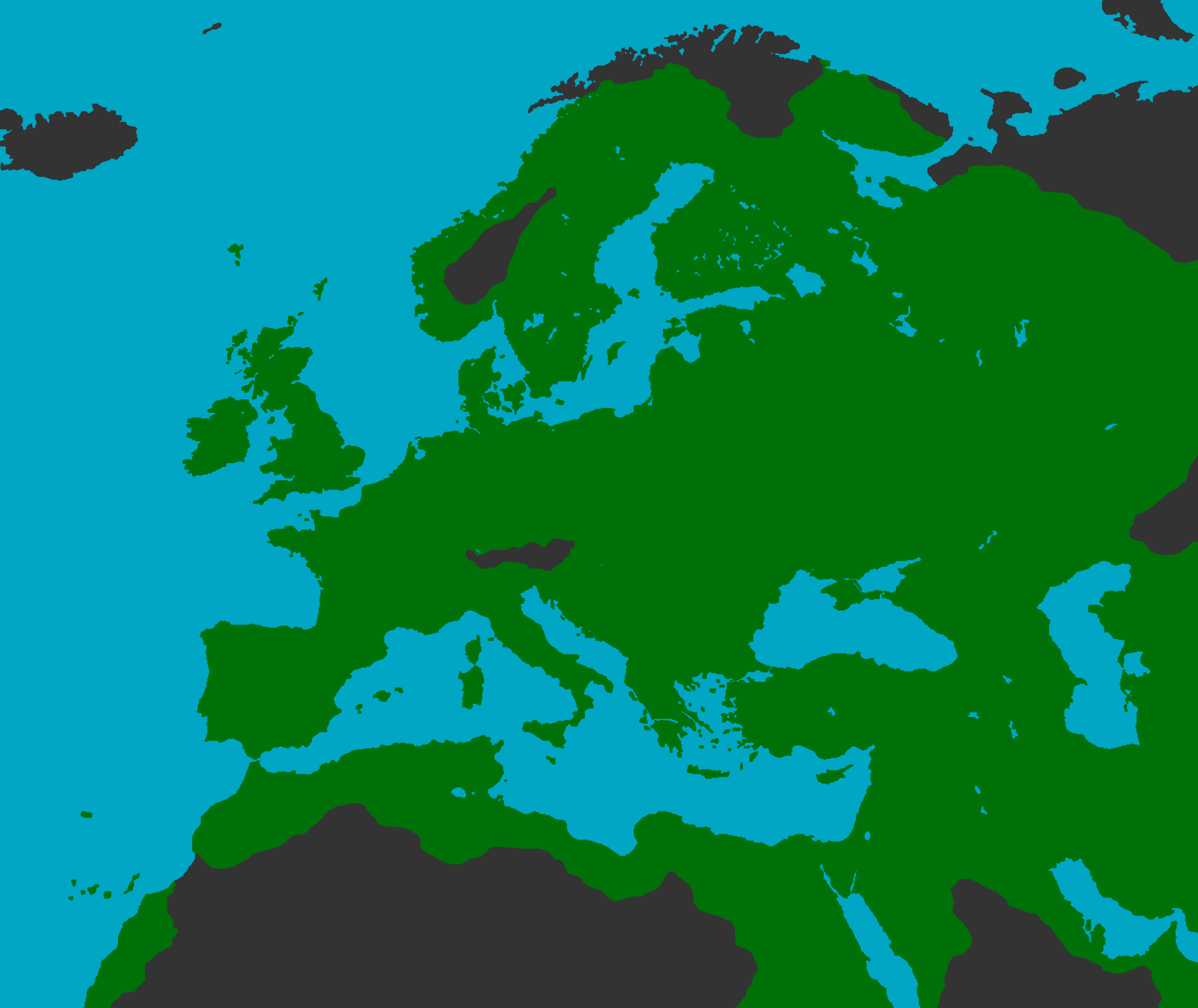 East Middle Earth Map%0A PostApocalyptic Europe